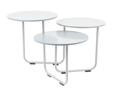 Leitmotiv - Tavolo in legno 3 in 1, colore: Bianco opaco