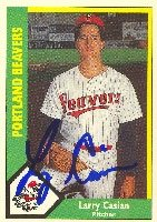 Larry Casian Portland Beavers - Twins Affiliate 1990 CMC Autographed Hand Signed... by Hall of Fame Memorabilia