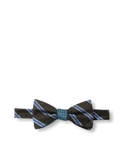Ben Sherman Men's Reversible Pre-Tied Neat Stripe Bow Tie, Cobalt