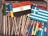 Box of 100 Different Wold Flags Country Flags Toothpick Flags Perfect for the Olympics