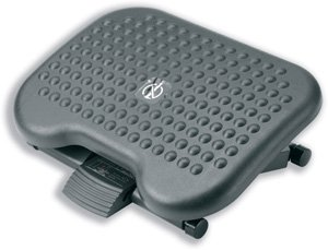 Compucessory Footrest Tilting Adjustable H95-170mm W460 x D340 x H171 Charcoal Ref CCS23751