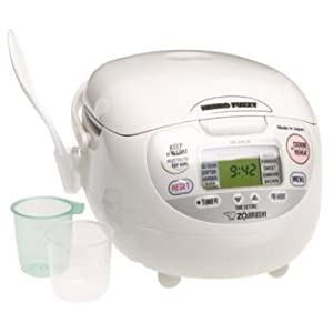Zojirushi NS-ZCC18 10-Cup Neuro Fuzzy Rice Cooker and Warmer, Premium White