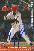 Ryan Fitzgerald, Lansing Lugnuts - Cubs Affiliate, 2004 Grandstand Autographed Card