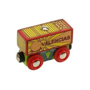 31ZAJnsNhcL Cheap Buy  Bigjigs Single Wooden Train Rolling Stock (Valencias Fresh Fruit Wagon)