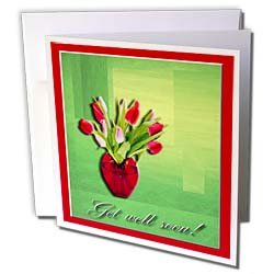 Beverly Turner Get Well Design - Vase of Tulips