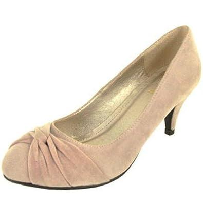 Qupid Orsen 245 Suede Fashion Comfy High Heel BLUSH