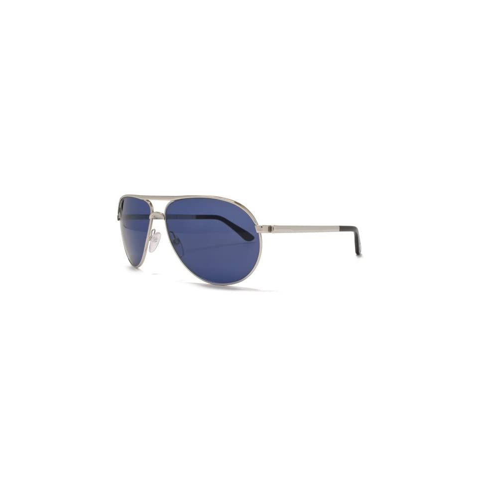 ee5cd8f718 Tom Ford Marko Aviator Sunglasses Shiny Rhodium Black FT0144 18V 58 ...