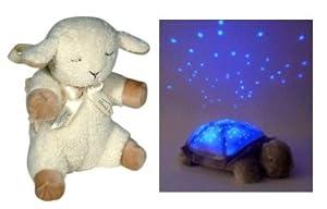 Cloud B Children's Sleep Set Featuring Sleep Sheep and Twilight Turtle Constellation Nightlight