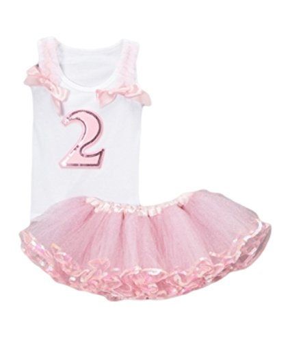 Girl's Pink Cinderella Birthday Tutu Skirt Outfit Top 2 or 3