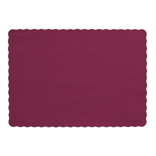 Creative Converting 50 Count Touch of Color Paper Placemats, Burgundy