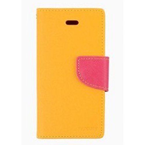 Meaci® Apple Iphone 5&5S Case/Cover/Holster Colourful & Fashion Folio Case Flip Feature With Kickstand&Credit/Id Card Holder Wallet Pu Leather Magnetic Buckle(Yellow)