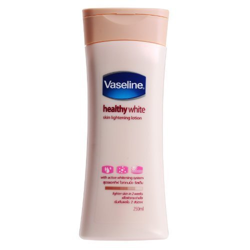 Vaseline Healthy White Skin Lightening Lotion with Active Whitening System - Lighter Skin in 2 Weeks (250 ml)