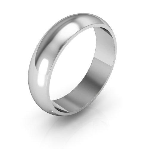 Platinum Men's & Women's Wedding Bands 5mm halfround light