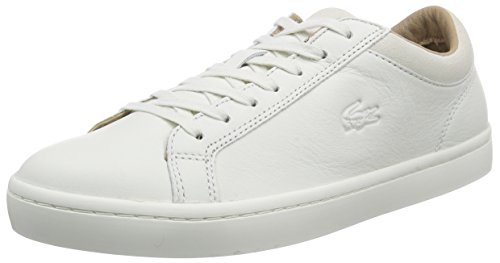 LacosteSTRAIGHTSET CRF 2 - Scarpe da tennis basse uomo, Bianco (Weiß (OFF WHT 098)), 42 EU