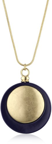 Belle Noel Resin Coin Matte Pendant Necklace
