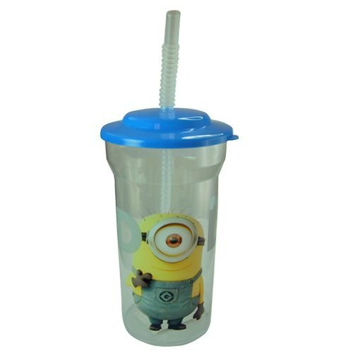 WeGlow International Despicable Me Minions Sports Tumbler with Lid and Straw (Set of 2), 16-Ounce - 1