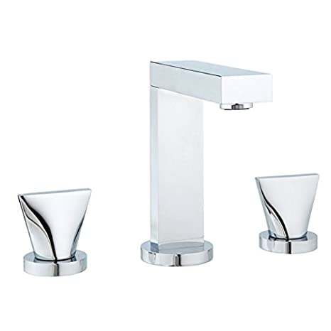 MCN Extend Polished Chrome Widespread Bathroom Faucet Lever Handle and Drain