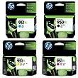 Hewlett Packard - Hp 950-951 Xl Four Pack Black Color Inkjet Ink Set by Hewlett Packard
