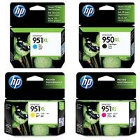 Hewlett Packard - HP 950-951 XL Four Pack- Black & Color Inkjet Ink Set