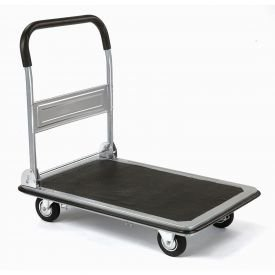 Folding Platform Truck With Solid Steel Deck 400 Lb. Capacity