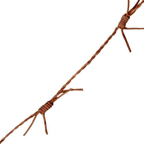 Venus Ribbon 11324-A 1mm Leather Barbed Wire Trim, 5-Yard