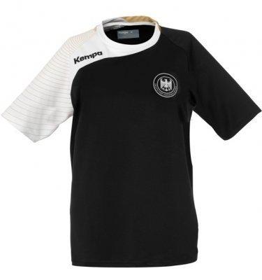 Kempa DHB-Maglietta Circle Replika, Unisex, T-Shirt DHB Circle Replika, nero, XXS/XS