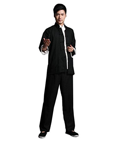 Bruce Lee Costume Chinese wing chun Kung Fu Uniform Martial Arts Tai Chi Suits