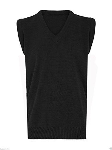 Missmister da uomo Classico, da uomo senza maniche maglione Cricket da Golf ciotola Vee collo maglione Plus Size Black XXXXX-Large