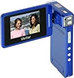 Vivitar Dvr865hd 8.1mp Camcorder with 8x Digital Zoom ( Blue) with Strap -User Manual 1 Year Warranty - Includes Rechareable Lithium Battery, Av Cable Av Charger