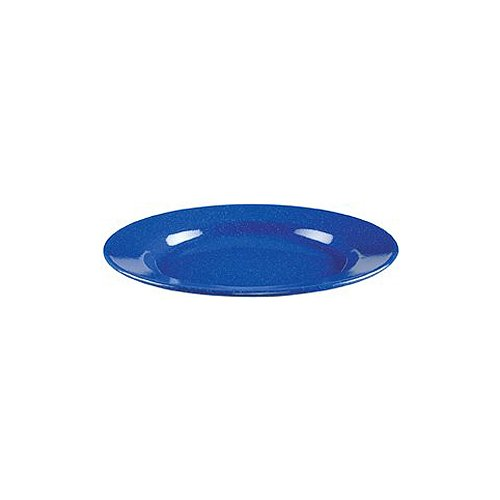"""Coleman 10"""" Enamelware Dinner Plate With Wide Rim (Blue)"""