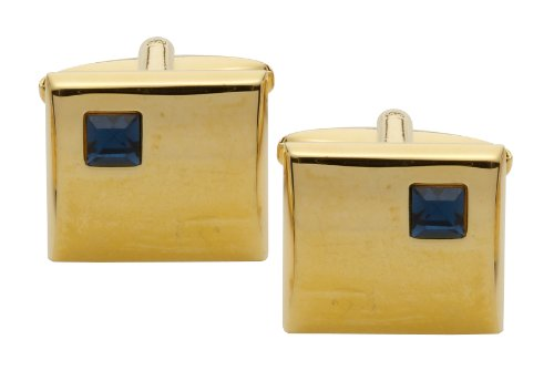 Code Red Gold Plated Cufflinks with 'Montana' Stones