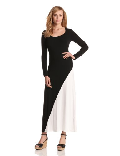 c5945d9a1453 Karen Kane Women s Split Color Long Sleeve Maxi - Wadulifashions