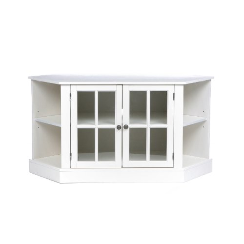 SEI Thomas Corner Media Stand, White