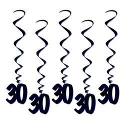 30 Whirls (black)    (5/Pkg)