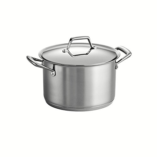 Tramontina Prima 8 Quart 18/10 Stainless Steel Tri-Ply Base Covered Stock Pot