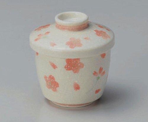 Mino-Yaki-Sakura Jiki Japanese Porcelain Set Of 4 Small Bowls With The Cover