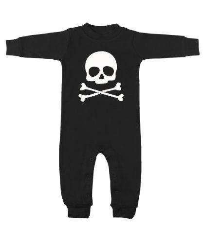 Skull & Crossbones Black & White Romper 0-3 Months front-895396