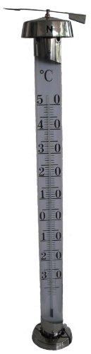 Gartenthermometer JUMBO, Edelstahl, silber