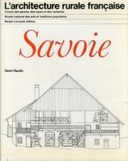 L'architecture rurale française / savoie