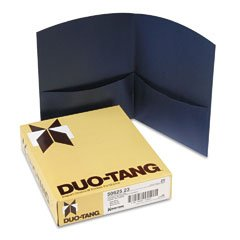 Buy Esselte 5062523 Duo-Tang Contour Two Pocket Folders, Dark Blue, 25 Per Box