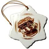 Hot Fudge Sundae Cake - 3 Inch Snowflake Porcelain Ornament
