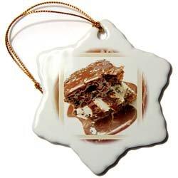 Hot Fudge Sundae Cake - 3 Inch Snowflake Porcelain Ornament