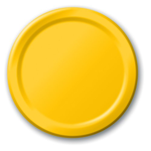 Fantastic Deal! Creative Converting Touch of Color 24 Count Paper Lunch Plates, School Bus Yellow
