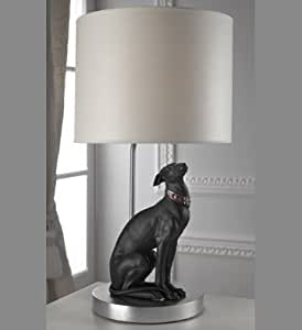 lladro attentive greyhound lamp home kitchen. Black Bedroom Furniture Sets. Home Design Ideas