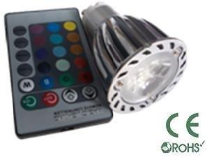 Glb Gu10 6 Watt Rgb Led Bulb Spotlight With Remote Control, 3X2Led Multi Color 16 Color Choices