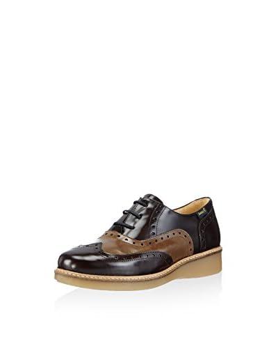 Jonny's Zapatos Oxford Kier Negro / Marrón