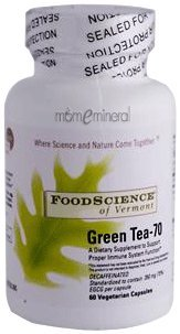 Green Tea-70, Decaffeinated, 60 Veggie Capsules by FoodScience