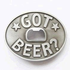 Got Beer? Bottle Opener Belt Buckle