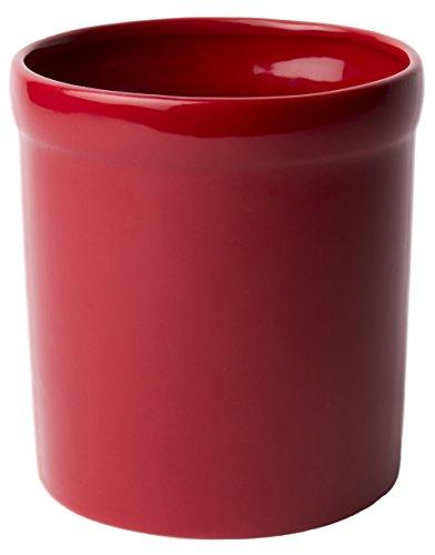 ceramic large red utensil holder