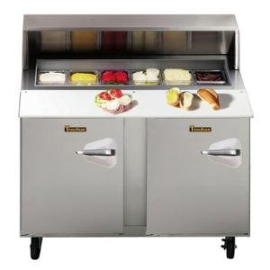 "Traulsen Upt4812-Ll 48"" Standard Top Sandwich / Salad Prep Refrigerator With Left Hinged Doors"